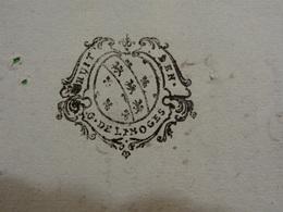 31 Août 1746 Généralité De Limoges (Haute-Vienne) N°227 Feuille De Huit Deniers Belle Frappe Lion Lys - Cachets Généralité