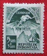 5+3 Sen Olympiade Olympic Games Sport (Mi 68) 1951 Indonesie / Indonesien / Indonesia POSTFRIS / MNH ** - Indonesia