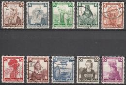 Deutsches Reich    .    Michel    .    588/597      .       O        .      Gebraucht - Allemagne