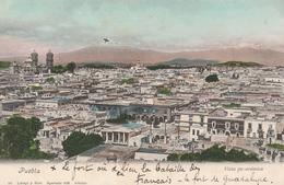 CPA COULEUR MEXIQUE PUEBLA VUE..ÉCRITE - Mexique