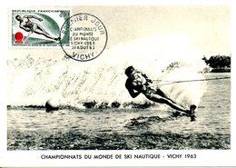 FRANCE. N°1395 Sur Carte Maximum De 1963. Ski Nautique. - Ski Nautique