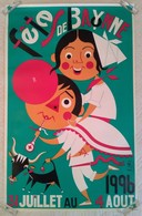 BELLE ET GRAND AFFICHE ANCIENNE ORIGINALE DES FETES DE BAYONNE 1996 - Affiches
