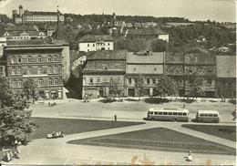 Slany (Repubblica Ceca) Namesti 9. Kvetna, Piazza 9 Maggio, Pulman Con Rimorchio, Autobus Con Rimorchio - Repubblica Ceca