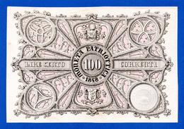 Italy - Venezia 100 Lire Correnti Governo Provvisorio 1848 Moneta Patriottica PS190 Spl~Sup - [ 1] …-1946 : Regno
