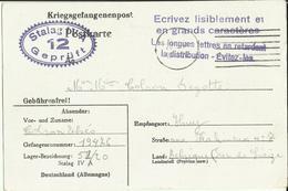 Correspondance Des Prisonniers De Guerre STALAG IV A    1940 - Marcophilie
