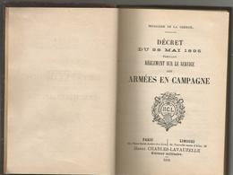 DECRET DU 28 MAI 1895 : REGLEMENT SUR LE SERVICE DES ARMEES EN CAMPAGNE - Livres