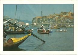 Porto (Oporto, Portogallo) Barcos Rabelos Em Frente à Ribeira, Rabelo Boats Opposite The Ribeira - Porto