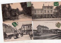 1 Lot De 15 Cartes Trais Gares Tramways - Cartes Postales