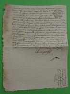 11 Septembre 1773 Généralité De Limoges (Haute-Vienne) La Souterraine (Creuse) N°261 Belle Frappe Lys - Cachets Généralité