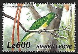 Sierra Leone - 2000 - MNH - Birds Of Africa -    African Emerald Cuckoo  -  Chrysococcyx Cupreus - Coucous, Touracos