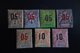 GUYANE N°66/72* MH  Y/T C.15e - Neufs