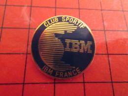 115b Pins Pin's / Rare & De Belle Qualité  THEME : INFORMATIQUE / CLUB SPORTIF IBM FRANCE - Computers