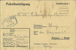 Correspondance Des Prisonniers De Guerre STALAG IV A    1942    (2 Scans) - Marcophilie