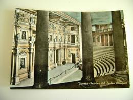 VICENZA TEATRO  OLIMPICO     THEATRE   Théâtre     POSTCARD  USED ACQUERELLATA - Teatro