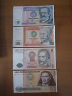 4 Billets, PEROU, - 10  Oro 50/100/500 Oro 1987 -  Ft: 15 X 7?5 Cm - NEUF - Pérou