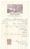 Paris 1881, Hôtel Du Rhin (Place Vendôme), Rechnung/Facture Für/pour Duc De Leuchtenberg - 1800 – 1899