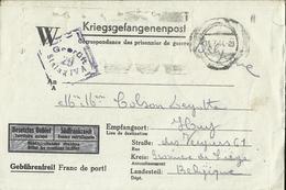 Correspondance Des Prisonniers De Guerre STALAG IV A    1944    (2 Scans) - Marcophilie