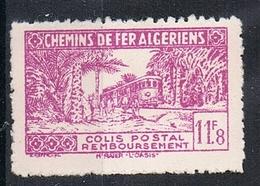 ALGERIE COLIS POSTAL N°155 N*  Variété Surcharge Absente - Algérie (1924-1962)