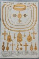 Rare Document Commercial Début 20 Eme Magasin à Saint Joseph Souvenir Du Jour De L'an Bijoux Médailles Pendentifs - France