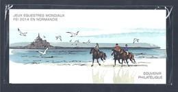Pochette Philatélique Bloc Souvenir 2014 - Jeux Equestres Mondiaux Neuf Sous Blister ** - Blocs Souvenir