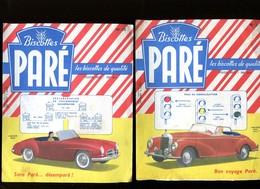BVD1  Biscottes Paré LOT DE 2 Automobiles Mercédès - Biscottes
