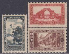 Algérie N° 114 / 16 X Partie De Série : Sites Et Paysages : Les 3 Valeurs Trace De  Charnière Sinon TB - Algérie (1924-1962)