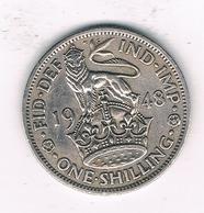 1 SHILLING  1948 GROOT-BRITANNIE /1382// - 1902-1971 : Monnaies Post-Victoriennes