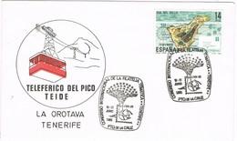 31909. Carta PUERTO De La CRUZ (Canarias) 1985. Exposicion Tematica Tenerife. TELEFERICO TEIDE - 1931-Hoy: 2ª República - ... Juan Carlos I