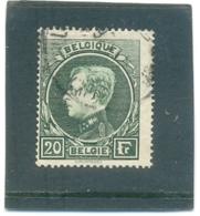 1929 BELGIQUE Y & T N° 290A ( O ) 20 Fr - 1929-1941 Grand Montenez