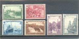 1929 BELGIQUE Y & T N° 293 à 298 ( * ) Antituberculeux - Belgium