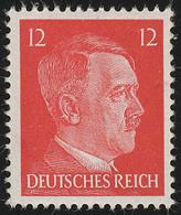 827 Hitler 12 Pf Buchdruck ** - Ohne Zuordnung