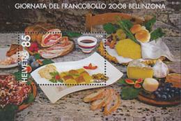 SUISSE 2008 - Journée Du Timbre à Bellinzona - Gastronomie - 1 BF - Suisse