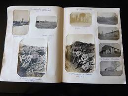 SUPERBE  !!  TRES GROS LOT DE 150 PHOTOS DANS UN ALBUM  DE LA GUERRE DE FEVRIER 1917 A NOVEMBRE 1918 - 1914-18