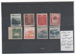 JAPON 1944-46 LOT Entre 338A Et 347** MNH - 1926-89 Empereur Hirohito (Ere Showa)
