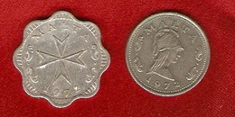 Malte 1972 - 2 Mils, 2 Cents - KM 5, KM 9 - Malte