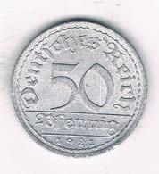 50 PFENNIG 1921 A DUITSLAND /1390/ - [ 3] 1918-1933 : Republique De Weimar