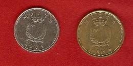 Malte 1998, 2004 - 1 Cent, 2 Cents - KM 93, KM 94 - Malte