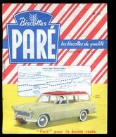 BVD1  Biscottes Paré.  Automobile Simca Marly - Biscottes
