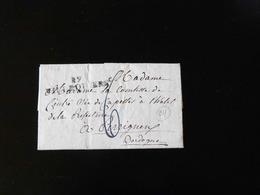 LETTRE DE VILLEQUIERS POUR PERIGUEUX  -  1826  - - Marcophilie (Lettres)