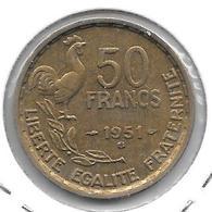 *france 50 Francs 1951 B Km 918.2   Xf - France