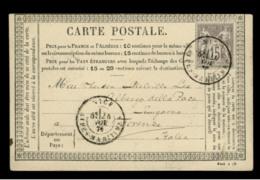 ALPES MARITIMES - LAC - Tàd T18 NICE (1876) Sur N° 66 Pour Florence (Italie) - Postmark Collection (Covers)