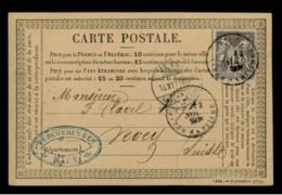 ALPES MARITIMES - LAC - Tàd T18 NICE (1877) Sur N° 77 Pour Vevey (Suisse) - Postmark Collection (Covers)