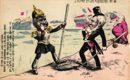 L' Huître Et Les Plaideurs No. 3, Emile Loubet Guillaume II,  Edouard 7 , Sign. Mille - Satirische