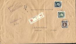 TP 196, 214, 215 (x 3) + 216  L. Rec. Charleroi 4 > Peltre (France)      1926   Pli - 1922-1927 Houyoux