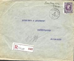 TP 183 (x 5), 192 (x 5), 193 (x 5), 194 (x 2) + 198  L. Rec. Couillet > Baden-Baden     1924 - 1922-1927 Houyoux