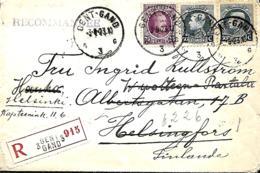 TP 197 + 211 (x 2)   L. Rec. Gent 3 > Helsinki > Hauho > Helsinki    1923   Double Port   (Helsinki = Helsingfors) - 1922-1927 Houyoux