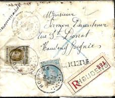 TP  207 + 255  L. Rec. Houdeng > Houdeng-Gougnies  1928   Refuse De Signer, Rebut - 1922-1927 Houyoux