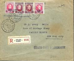 TP  204, 245 (x 4), 246 (x 2) + 247 (x 2)  L. Rec.  Ixelles 1 > New York   1927 - 1922-1927 Houyoux
