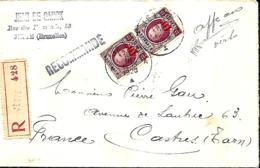 TP 204, 246 (x 3), 247 (x 2) + 248  L. Rec.  Jette > Castres (France) 1928 - 1922-1927 Houyoux
