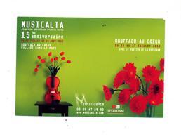 Carte Rouffach Festival Musique Theme Fleur - Rouffach